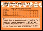 1988 Topps Traded #99 T Mark Salas  Back Thumbnail
