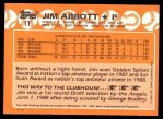 1988 Topps Traded #1 T  -  Jim Abbott Team USA Back Thumbnail