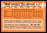 1988 Topps Traded #120 T Mickey Tettleton  Back Thumbnail