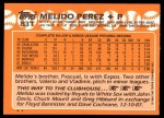 1988 Topps Traded #83 T Melido Perez  Back Thumbnail