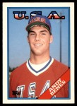 1988 Topps Traded #14 T  -  Andy Benes Team USA Front Thumbnail