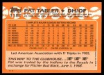 1988 Topps Traded #118 T Pat Tabler  Back Thumbnail