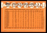 1988 Topps Traded #25 T John Candelaria  Back Thumbnail