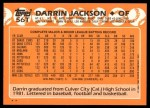 1988 Topps Traded #56 T Darrin Jackson  Back Thumbnail
