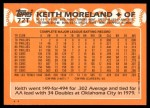 1988 Topps Traded #72 T Keith Moreland  Back Thumbnail