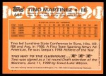 1988 Topps Traded #66 T  -  Tino Martinez Team USA Back Thumbnail