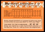 1988 Topps Traded #5 T Brady Anderson  Back Thumbnail