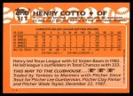 1988 Topps Traded #31 T Henry Cotto  Back Thumbnail