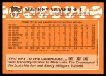 1988 Topps Traded #103 T Mackey Sasser  Back Thumbnail