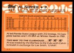 1988 Topps Traded #75 T Al Nipper  Back Thumbnail