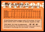 1988 Topps Traded #75 T Al Nipper  Back Thumbnail
