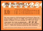 1988 Topps Traded #30 T  -  Pat Combs Team USA Back Thumbnail