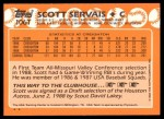 1988 Topps Traded #106 T  -  Scott Servais Team USA Back Thumbnail
