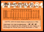 1988 Topps Traded #86 T Gary Pettis  Back Thumbnail
