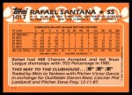 1988 Topps Traded #101 T Rafael Santana  Back Thumbnail