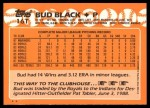 1988 Topps Traded #16 T Bud Black  Back Thumbnail