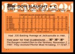 1988 Topps Traded #108 T Don Slaught  Back Thumbnail