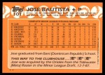 1988 Topps Traded #10 T Jose Bautista  Back Thumbnail
