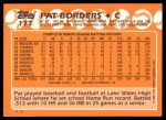 1988 Topps Traded #17 T Pat Borders  Back Thumbnail