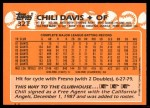 1988 Topps Traded #32 T Chili Davis  Back Thumbnail