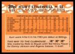 1988 Topps Traded #115 T Kurt Stillwell  Back Thumbnail