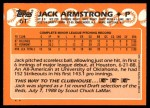 1988 Topps Traded #6 T Jack Armstrong  Back Thumbnail