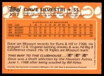 1988 Topps Traded #107 T  -  Dave Silvestri Team USA Back Thumbnail