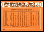 1988 Topps Traded #59 T Ray Knight  Back Thumbnail