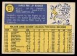 1970 Topps #222  Jim Rooker  Back Thumbnail