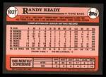 1989 Topps Traded #102 T Randy Ready  Back Thumbnail