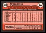 1989 Topps Traded #61 T Eric King  Back Thumbnail