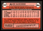 1989 Topps Traded #109 T Alex Sanchez  Back Thumbnail