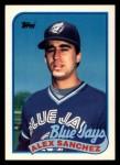 1989 Topps Traded #109 T Alex Sanchez  Front Thumbnail