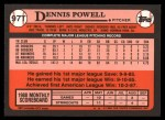 1989 Topps Traded #97 T Dennis Powell  Back Thumbnail