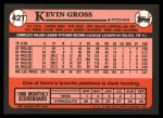 1989 Topps Traded #42 T Kevin Gross  Back Thumbnail