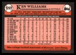 1989 Topps Traded #129 T Ken Williams  Back Thumbnail