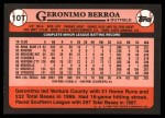 1989 Topps Traded #10 T Geronimo Berroa  Back Thumbnail