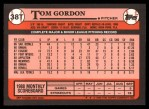 1989 Topps Traded #38 T Tom Gordon  Back Thumbnail