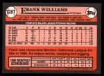 1989 Topps Traded #128 T Frank Williams  Back Thumbnail