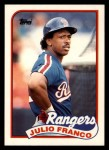 1989 Topps Traded #34 T Julio Franco  Front Thumbnail