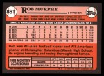 1989 Topps Traded #86 T Rob Murphy  Back Thumbnail