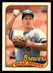 1989 Topps Traded #115 T Billy Spiers  Front Thumbnail