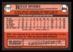 1989 Topps Traded #115 T Billy Spiers  Back Thumbnail