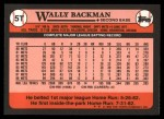 1989 Topps Traded #5 T Wally Backman  Back Thumbnail