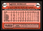 1989 Topps Traded #84 T Mike Morgan  Back Thumbnail