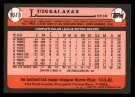 1989 Topps Traded #107 T Luis Salazar  Back Thumbnail