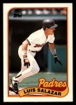 1989 Topps Traded #107 T Luis Salazar  Front Thumbnail
