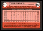 1989 Topps Traded #91 T Jesse Orosco  Back Thumbnail