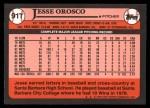 1989 Topps Traded #91 T Jesse Orosco  Back Thumbnail