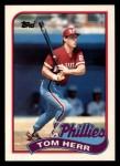 1989 Topps Traded #49 T Tom Herr  Front Thumbnail